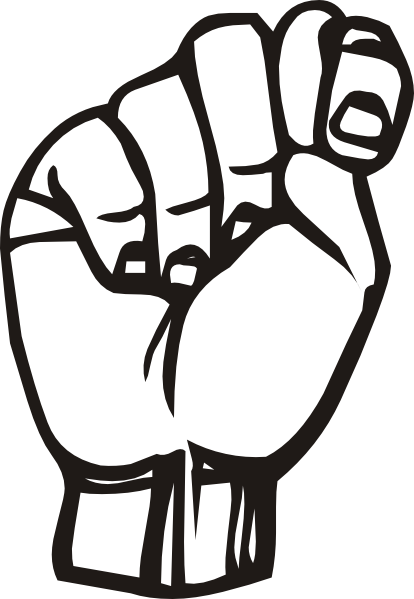 Sign language clipart black and white vector logo jpg Sign Language T clip art (107872) Free SVG Download / 4 Vector jpg