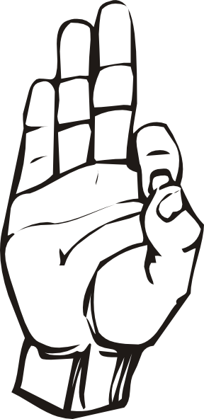 Sign language clipart free graphic black and white Sign Language F clip art Free Vector / 4Vector graphic black and white