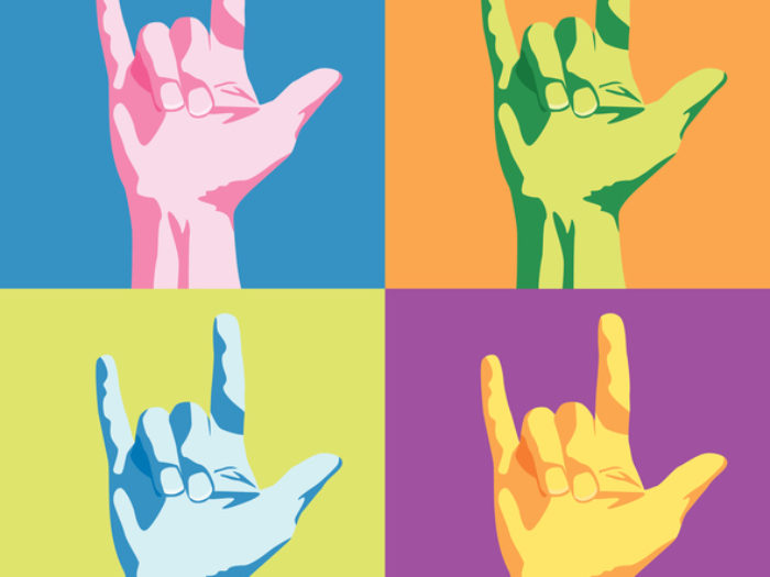 Sign language clipart gif svg black and white stock You can now learn sign language by watching GIFs svg black and white stock
