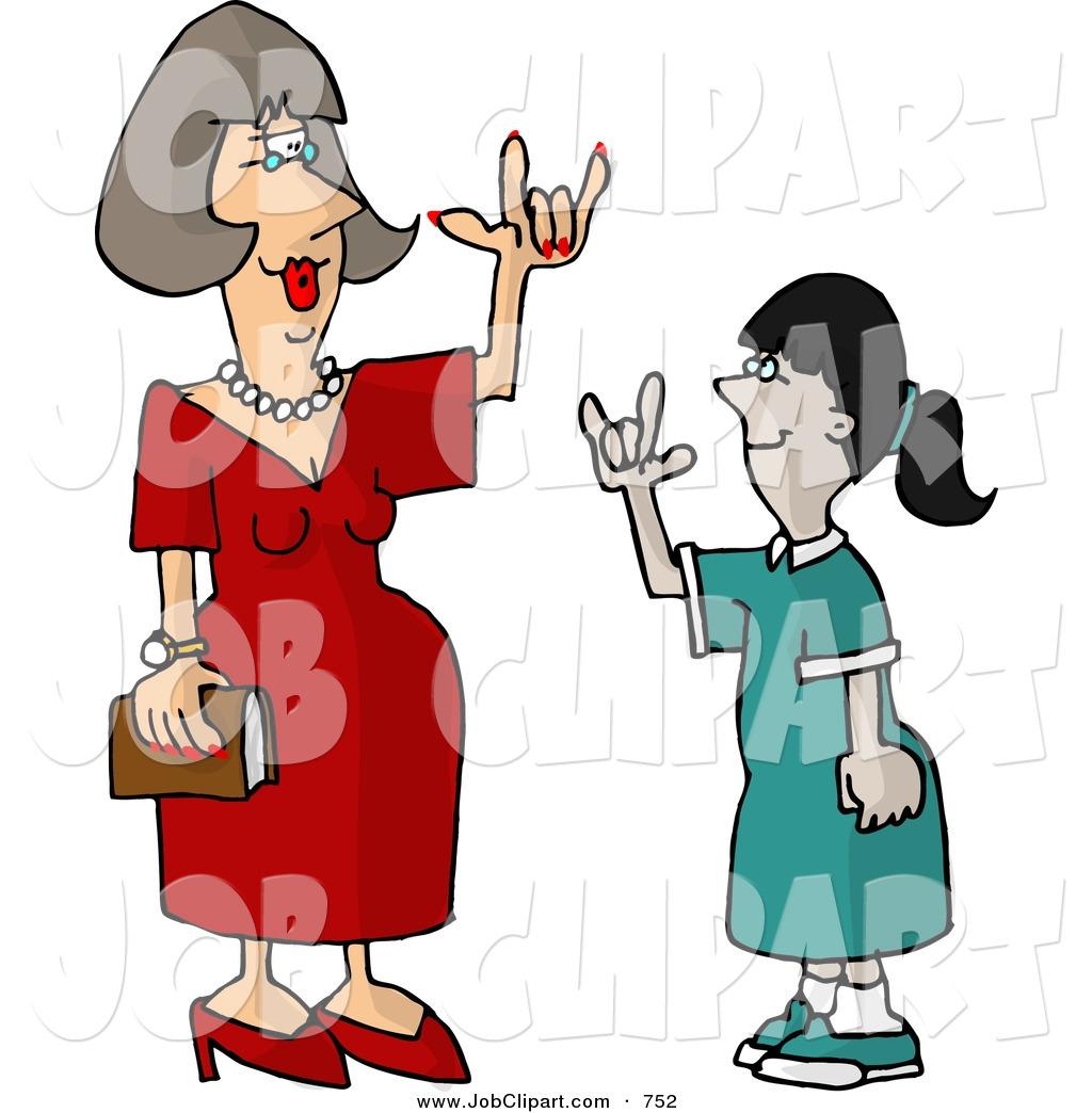 Sign language clipart kids