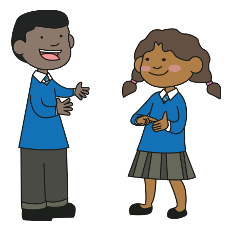 Sign language clipart kids picture freeuse library What's the difference between Sign Language and Makaton?   School ... picture freeuse library