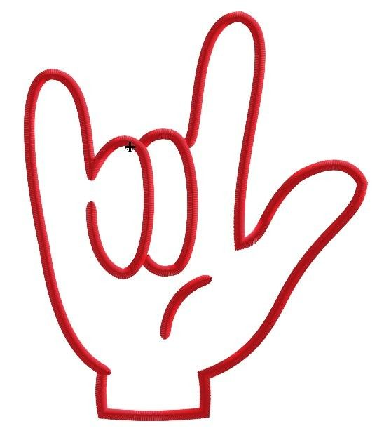 Sign language clipart kids image royalty free download I Love You Sign Language Hand Sculpture   Love you, Signs and ... image royalty free download