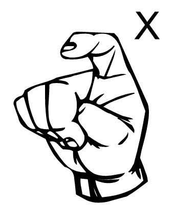 Sign language clipart letter 0 vector black and white sign language letter x - Google Search | Sign Language | Pinterest ... vector black and white