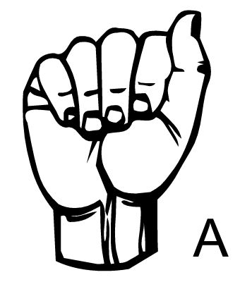 Sign language clipart letter a picture free stock printable flashcards a-z | Sign With Me | Pinterest | Sign ... picture free stock