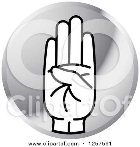 Sign language clipart letter b picture black and white stock Silver Icon Of A Sign Language Hand Gesturing Letter B #ViuWUx ... picture black and white stock