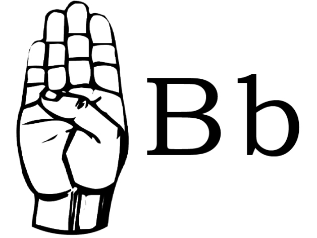 Sign language clipart letter b jpg stock sign language – Things made by Becca Rose jpg stock