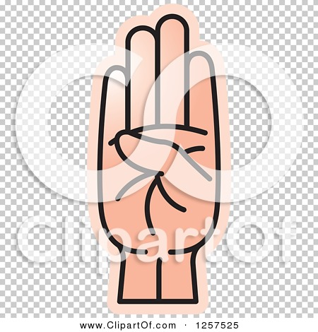 Sign language clipart letter b svg royalty free library Clipart of a Sign Language Hand Gesturing Letter B - Royalty Free ... svg royalty free library
