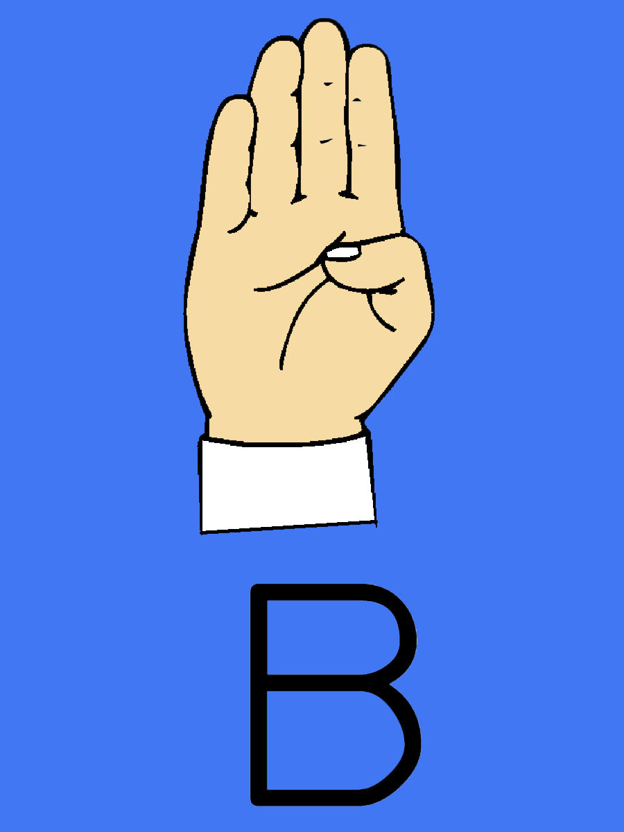 Sign language clipart letter b banner black and white download Sign language clipart letter b - ClipartFest banner black and white download