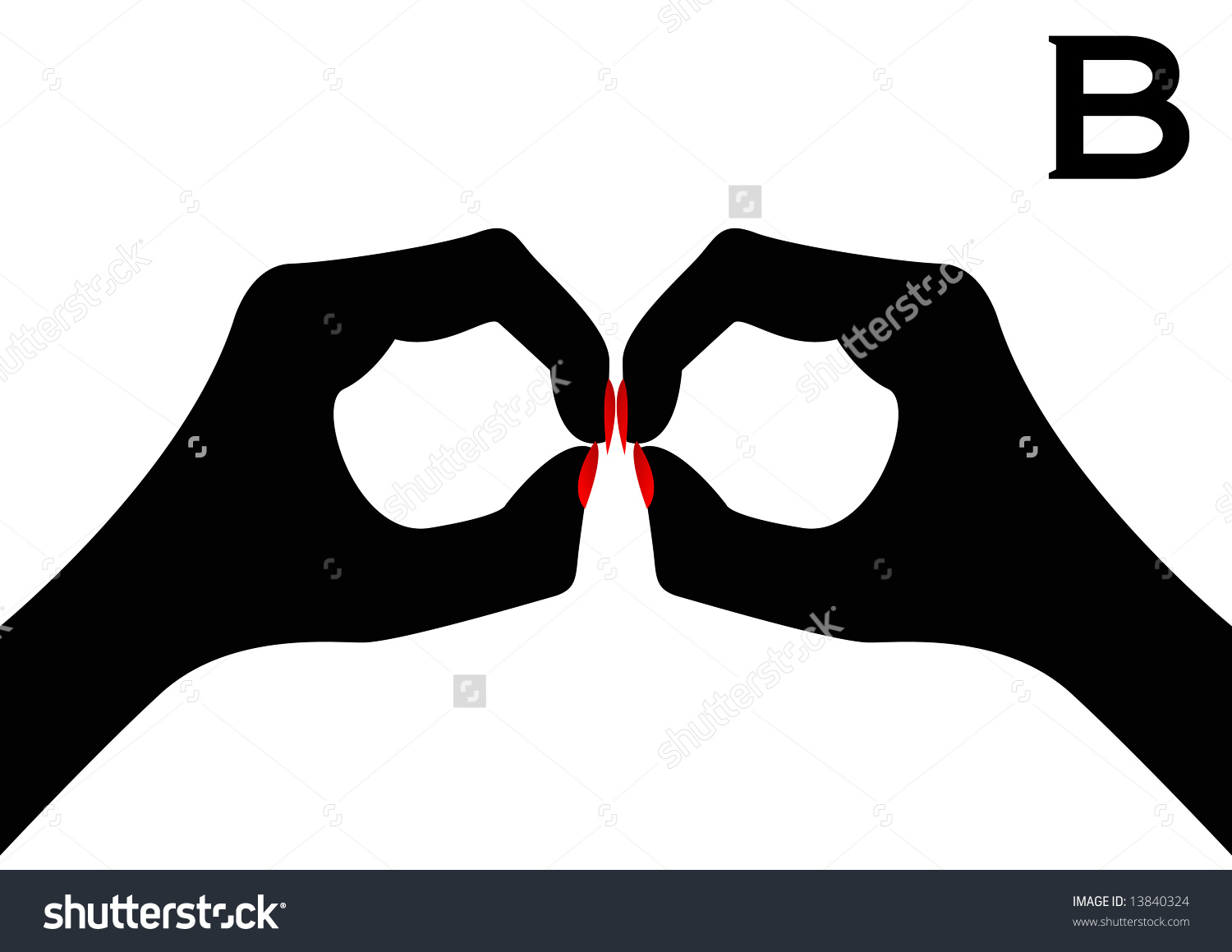 Sign language clipart letter b vector royalty free British Sign Language Letter B Stock Photo 13840324 : Shutterstock vector royalty free