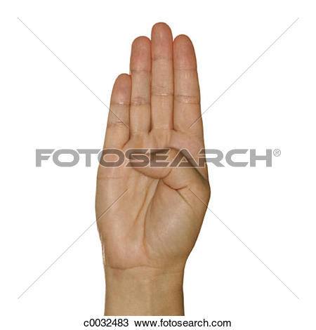 Sign language clipart letter b clip art transparent Stock Photo of A woman's hand signing the letter B using American ... clip art transparent
