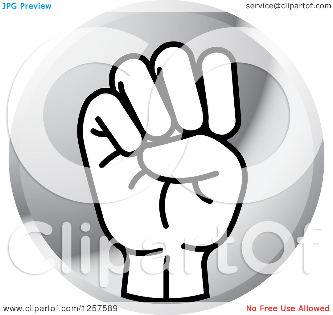 Sign language clipart letter e png free stock Clipart of a Silver Icon of a Sign Language Hand Gesturing Letter ... png free stock