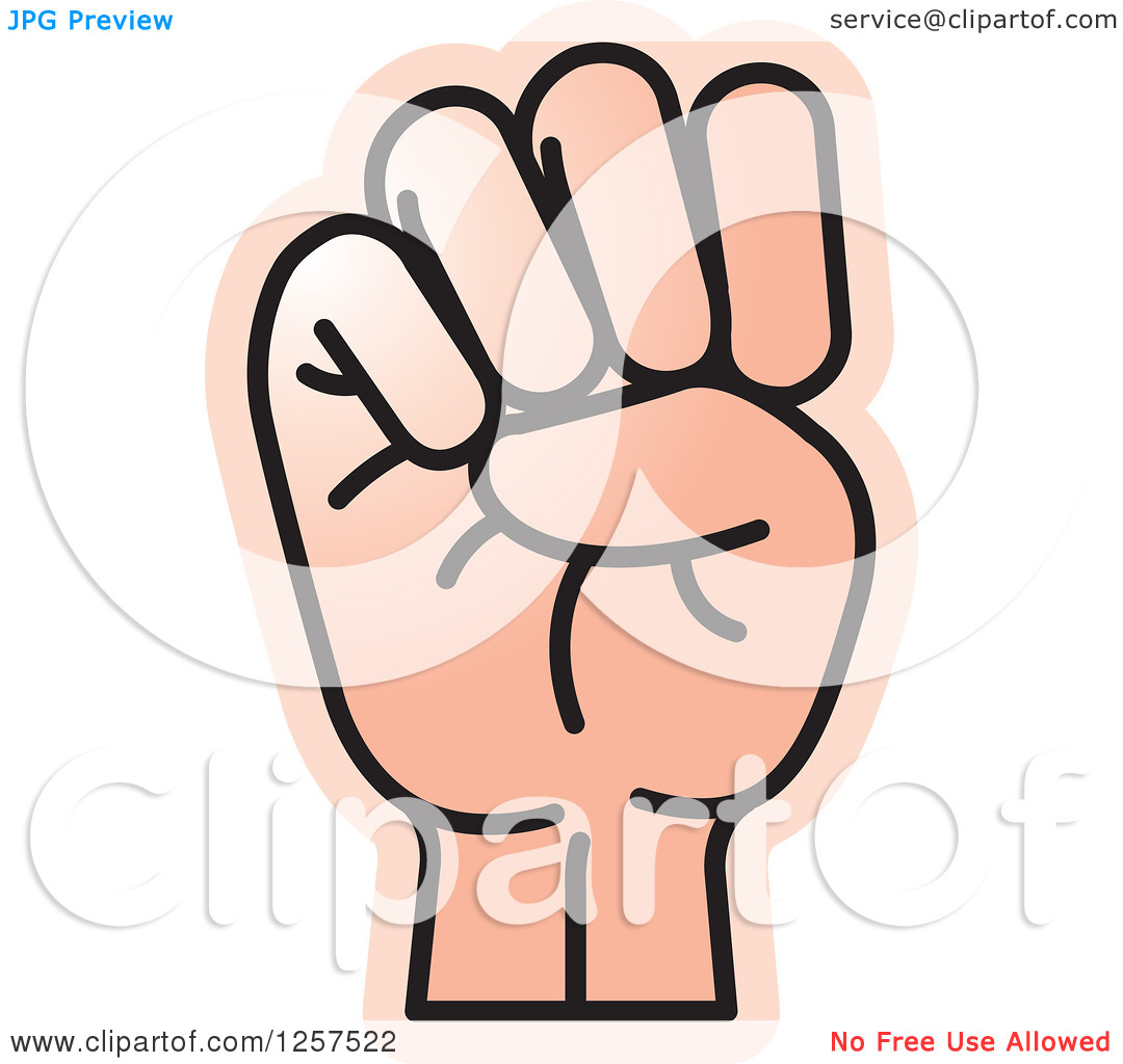 Sign language clipart letter e clip download Clipart of a Sign Language Hand Gesturing Letter E - Royalty Free ... clip download