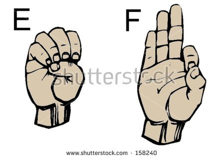 Sign language clipart letter e png free stock English Sign Language Letters E F Stock Photo 158240 - Shutterstock png free stock