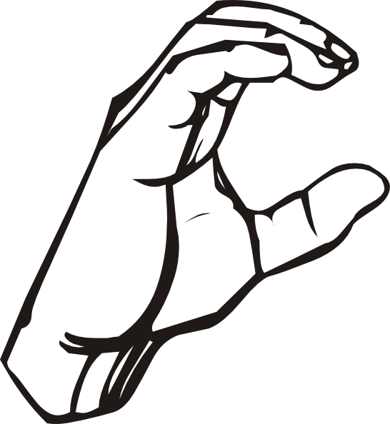 American sign language clipart svg transparent library Sign Language C Clip Art at Clker.com - vector clip art online ... svg transparent library