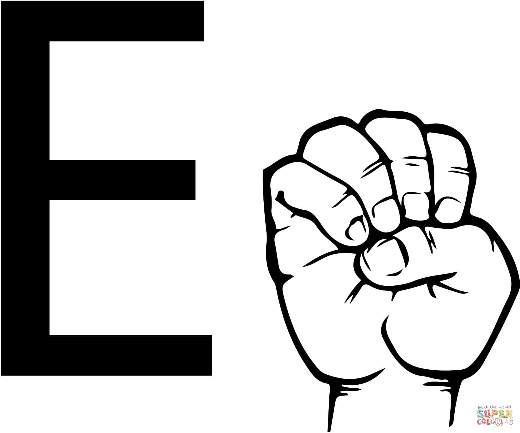 Sign language clipart letter e clipart free download Sign language clipart letter e - ClipartFest clipart free download