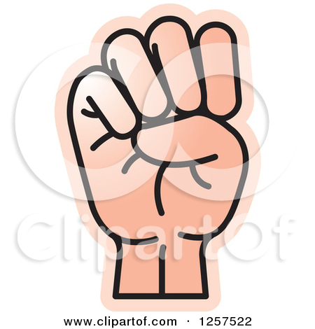 Sign language clipart letter e image royalty free Clipart of a Sign Language Hand Gesturing Letter N - Royalty Free ... image royalty free