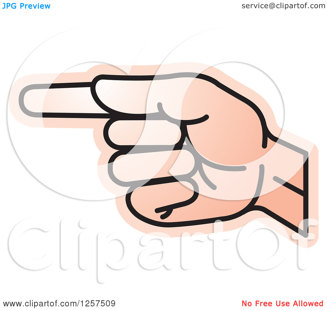Sign language clipart letter i image transparent library Clipart of a Sign Language Hand Gesturing Letter G - Royalty Free ... image transparent library