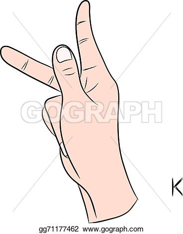 Sign language clipart letter k picture freeuse Vector Clipart - Sign language and the alphabet,the letter k ... picture freeuse