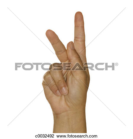 Sign language clipart letter k clip library Stock Photo of A woman's hand signing the letter K using American ... clip library