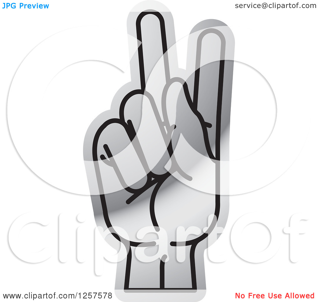 Sign language clipart letter k clipart royalty free stock Clipart of a Silver Sign Language Hand Gesturing Letter K ... clipart royalty free stock