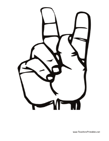 Sign language clipart letter k jpg library Sign language clipart letter k - ClipartFest jpg library