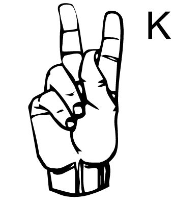 Sign language clipart letter k freeuse stock sign language-letter K - Google Search | Family Reunion ... freeuse stock