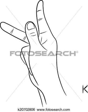 Sign language clipart letter k picture free stock Clip Art of Sign language and the alphabet,The Letter K k20702806 ... picture free stock
