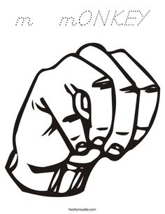 Sign language clipart letter l clipart free library Sign Language Letter W Coloring Page | Letters | Pinterest ... clipart free library