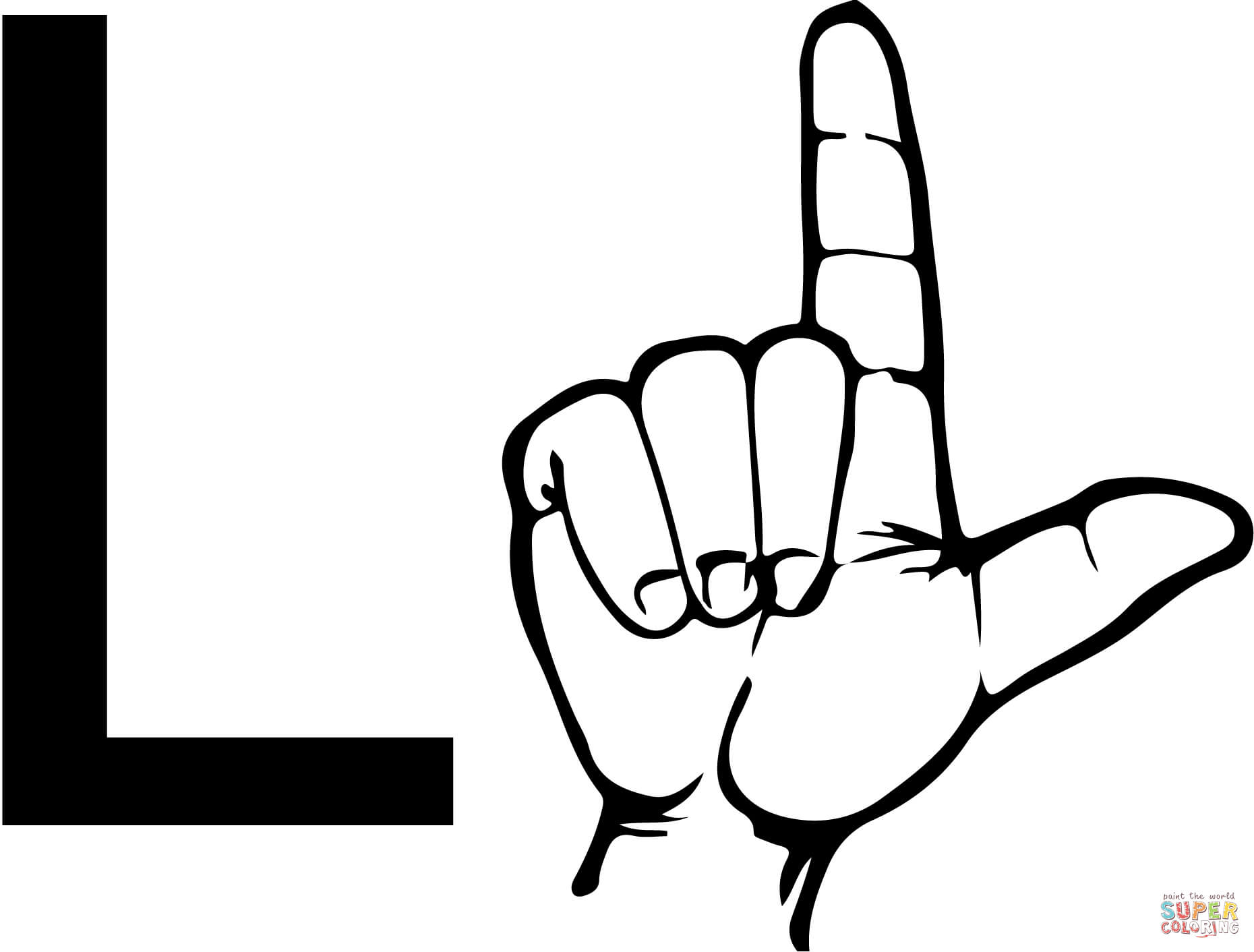 Sign language clipart letter l picture transparent stock Sign language clipart letter l - ClipartFest picture transparent stock