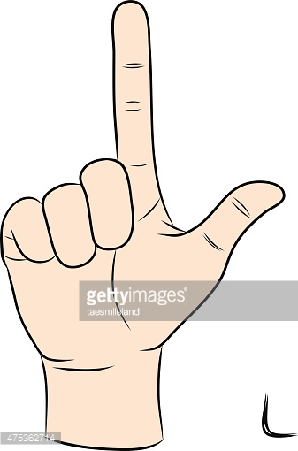 Sign language clipart letter l graphic library Sign Language and The Alphabet,the Letter L stock vectors - Clipart.me graphic library