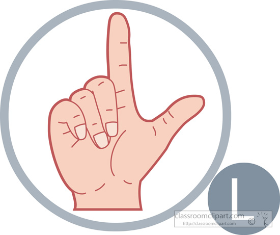 Sign language clipart letter l picture free American Sign Language : sign-language-letter-l : Classroom Clipart picture free