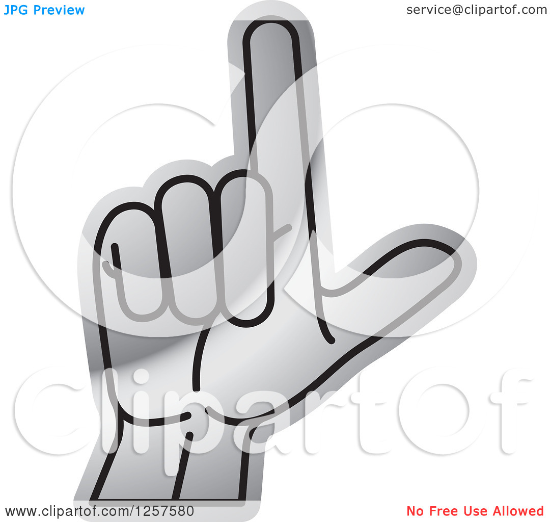 Sign language clipart letter l image transparent library Clipart of a Silver Sign Language Hand Gesturing Letter L ... image transparent library