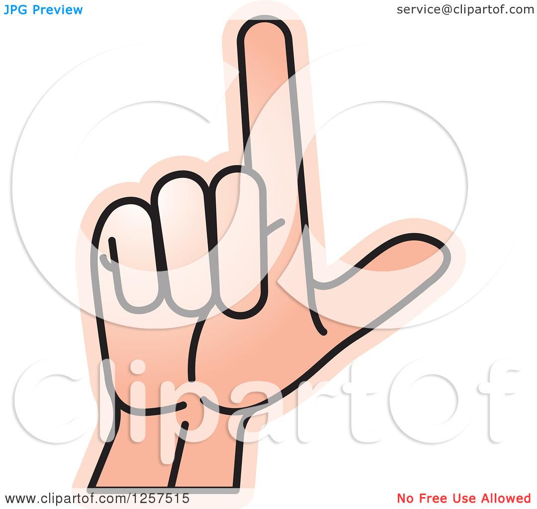 Sign language clipart letter l clip black and white Clipart of a Sign Language Hand Gesturing Letter L - Royalty Free ... clip black and white