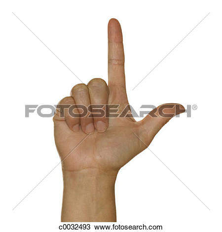 Sign language clipart letter l png black and white download Stock Photo of A woman's hand signing the letter L using American ... png black and white download