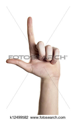 Sign language clipart letter l clipart stock Stock Photo of a human finger spelling the american sign language ... clipart stock