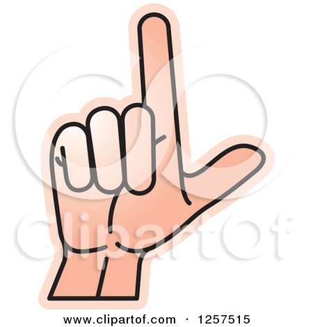 Sign language clipart letter l clip library Clipart of a Sign Language Hand Gesturing Letter L - Royalty Free ... clip library