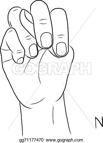 Sign language clipart letter n transparent Clip Art Vector - Sign language and the alphabet,the letter n ... transparent