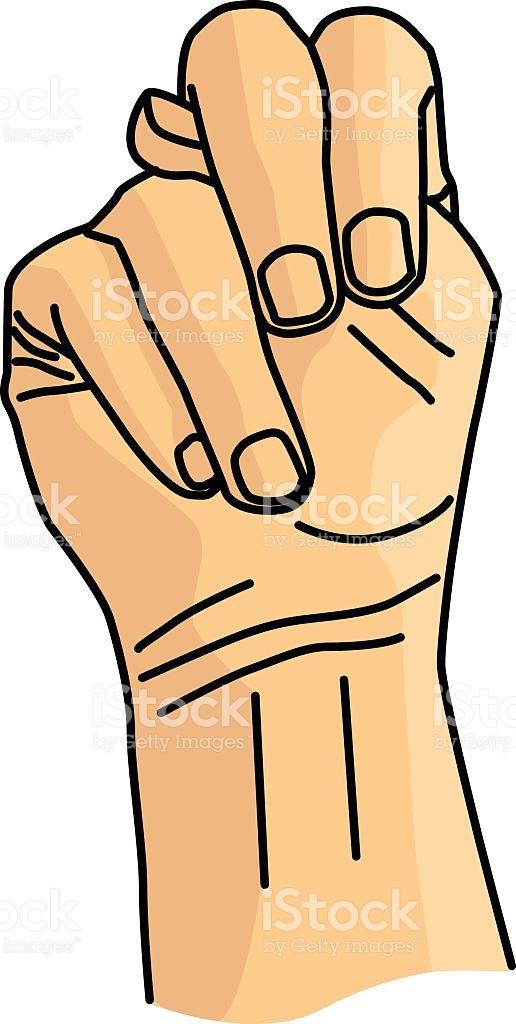 Sign language clipart letter n freeuse download N Sign Language Vector stock vector art 531518143 | iStock freeuse download