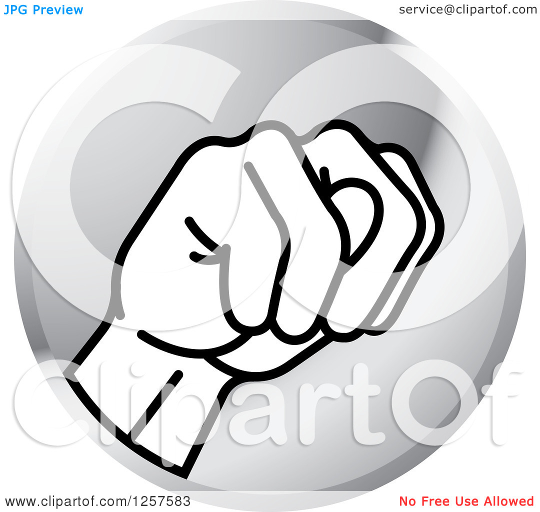 Sign language clipart letter n clip royalty free stock Clipart of a Silver Icon of a Sign Language Hand Gesturing Letter ... clip royalty free stock