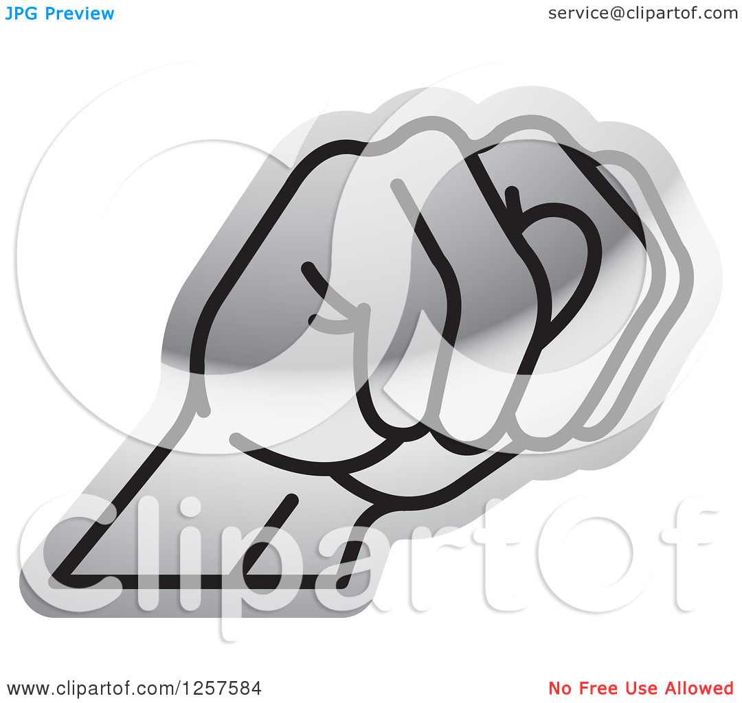 Sign language clipart letter n svg stock Clipart of a Silver Sign Language Hand Gesturing Letter N ... svg stock