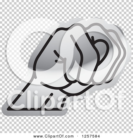 Sign language clipart letter n picture Clipart of a Silver Sign Language Hand Gesturing Letter N ... picture