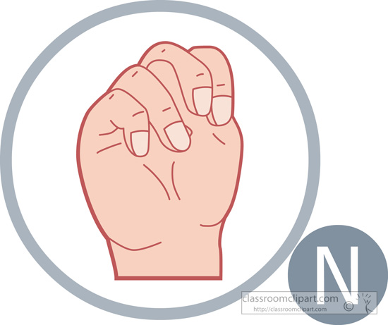 Sign language clipart letter n clip art royalty free stock American Sign Language : sign-language-letter-n : Classroom Clipart clip art royalty free stock