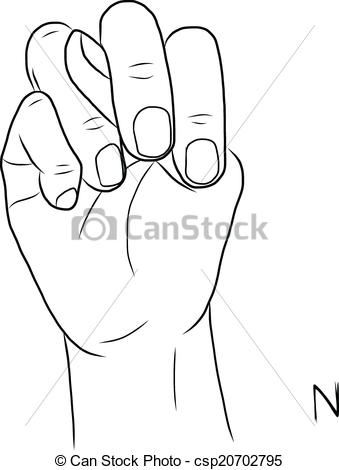 Sign language clipart letter n clip art free stock EPS Vectors of Sign language and the alphabet,The Letter N ... clip art free stock