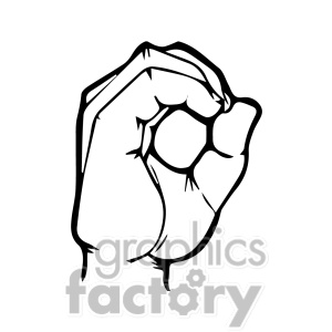 Sign language clipart letter o banner black and white library Sign language clipart letter o - ClipartFest banner black and white library