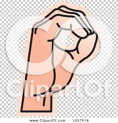 Sign language clipart letter o vector black and white stock Clipart of a Sign Language Hand Gesturing Letter O - Royalty Free ... vector black and white stock