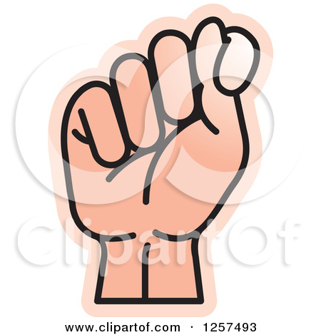 Sign language clipart letter t