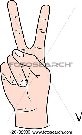 Sign language clipart letter v svg royalty free library Clip Art of Sign language and the alphabet,The Letter V k20702936 ... svg royalty free library