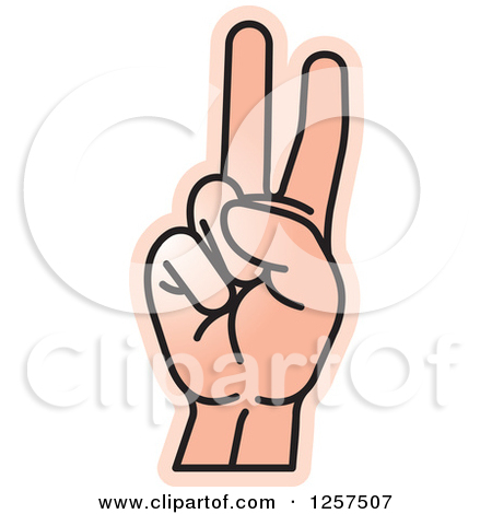 Sign language clipart letter v picture transparent library Clipart of a Sign Language Hand Gesturing Letter V - Royalty Free ... picture transparent library
