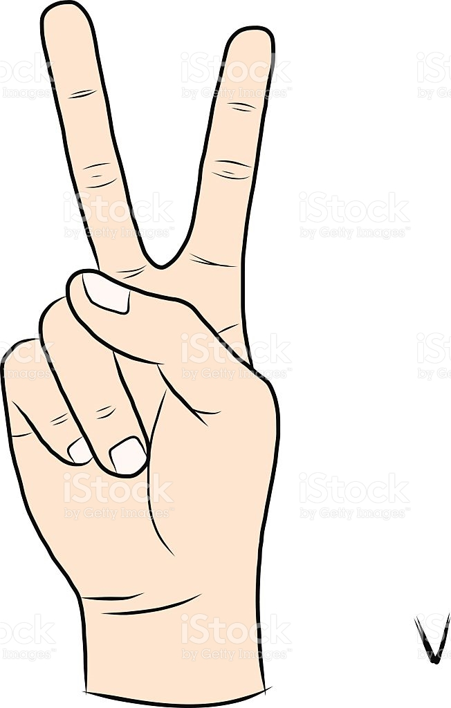 Sign language clipart letter v picture black and white download Sign Language And The Alphabetthe Letter V stock vector art ... picture black and white download