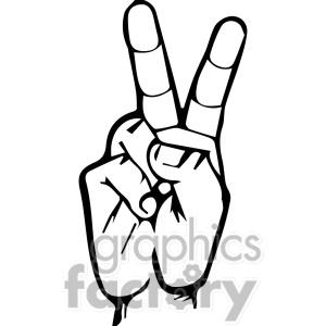 Sign language clipart letter v vector black and white stock Sign language clipart letter v - ClipartFest vector black and white stock